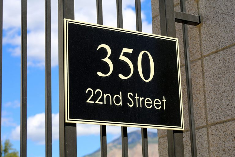 outdoor address signs Miami