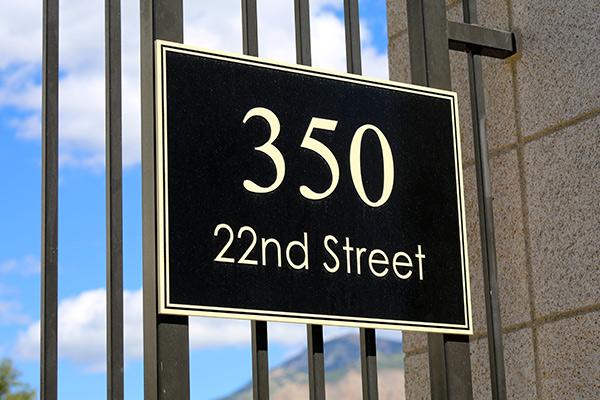 Outdoor Address Signs Miami, FL