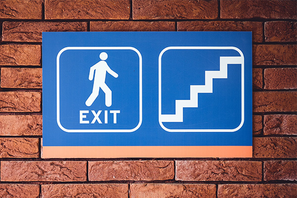 Exit Wayfinding or directional signage in Miami, FL