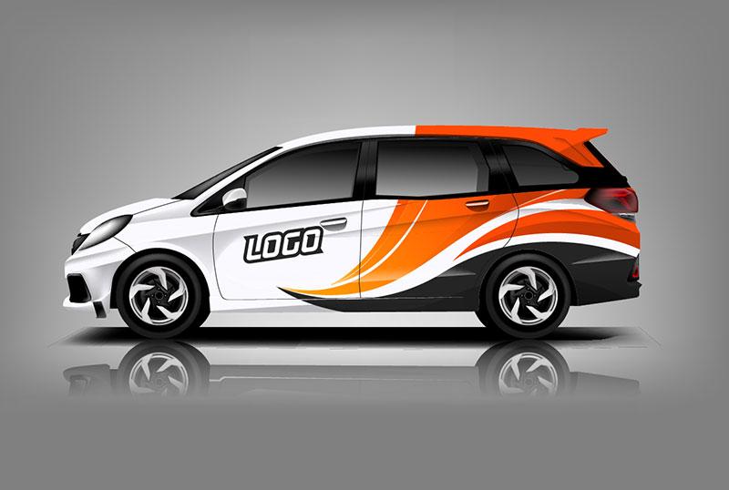 Orange & White Vehicle Wraps in Miami, FL