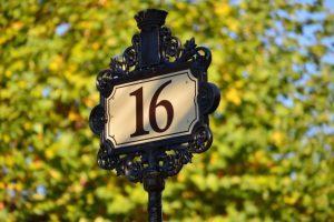 address number signs