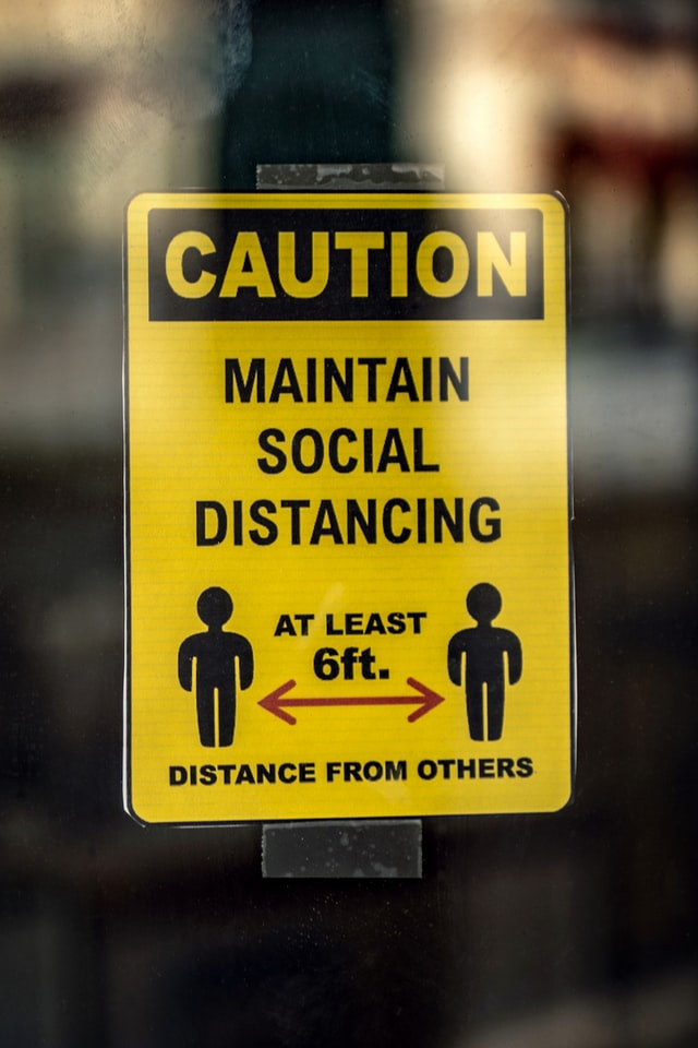 Maintain Social Distancing Safety Signs in Miami, FL