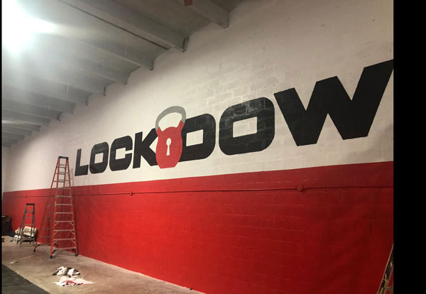 Lockdown custom made wall graphics by Major League Signs
