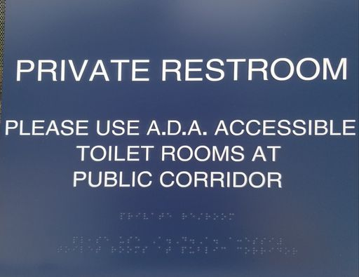 ADA bathroom signs custom made by Major League Signs in Miami, FL