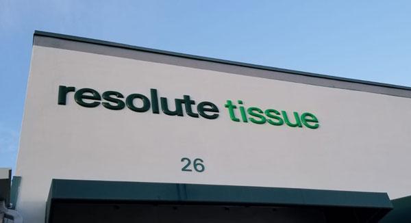 Resolute Tissue Storefront Signs in Miami, FL