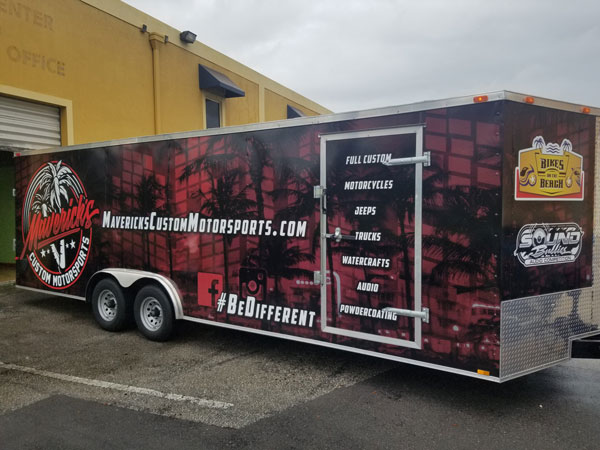 Mavricks Custom Motors Commercial Trailer Wraps & Graphics in Miami, FL
