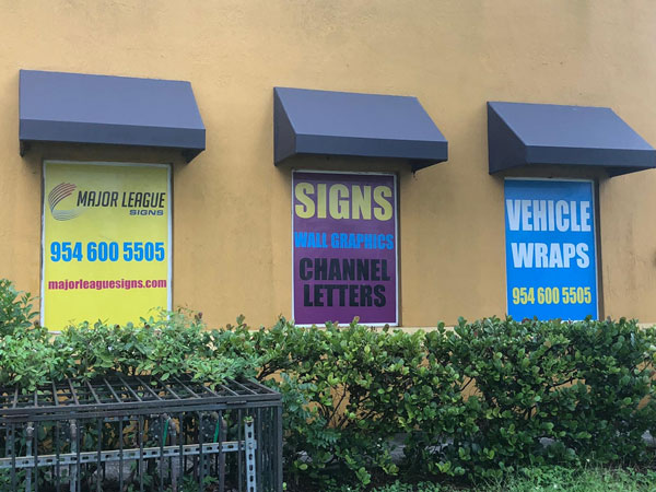 vinyl banners for advertisement in Miami, FL