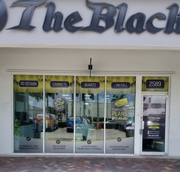 The Black Storefront Signage for Business in Miami, FL