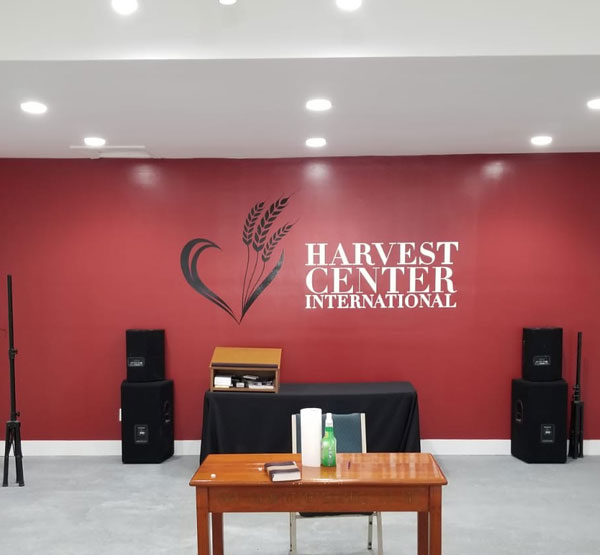 Custom Wall Decals for harvest Center in Miami, FL
