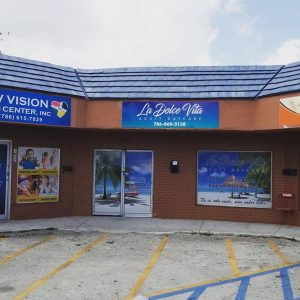 Commercial storefront signs and window graphics in Miami, FL