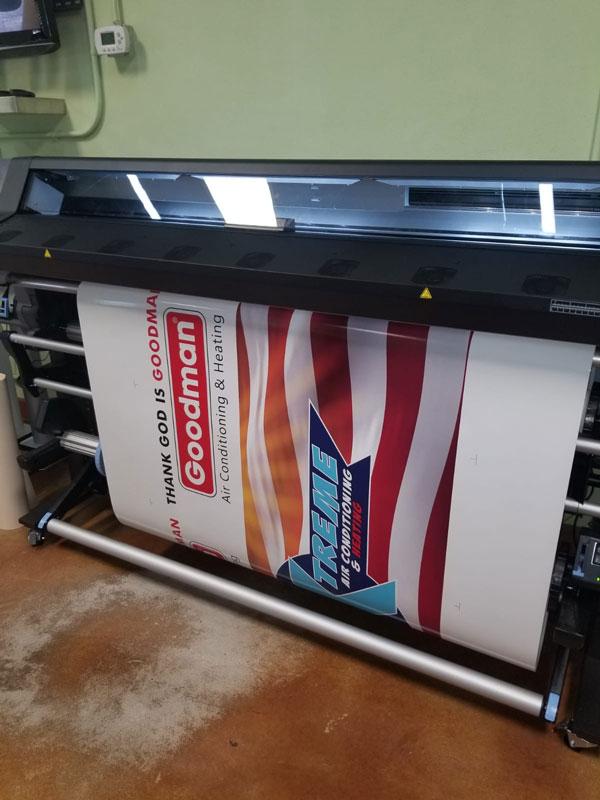 Vinyl sign printing at Miami Sign Company
