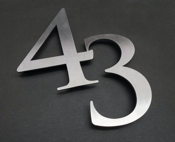 Metal address numbers
