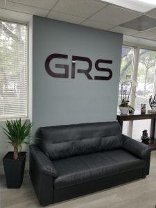 GRS acrylic lobby signs in Miami, FL