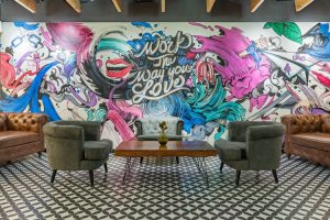 Office wall murals in Miami, FL